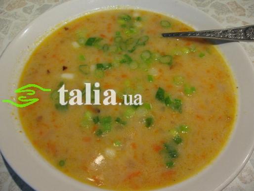 Рецепт. Сырный суп-пюре с креветками