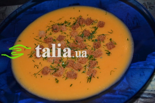 Рецепт. Гороховый суп-пюре с томатным соком