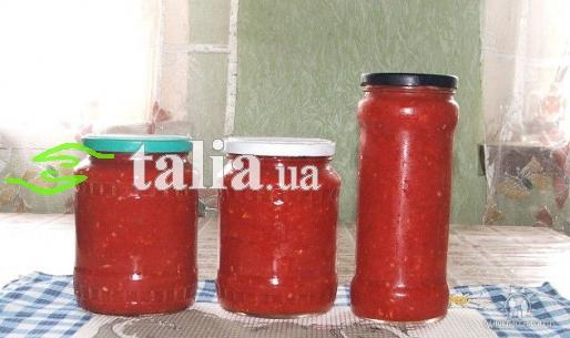 рецепт аджика без помидор