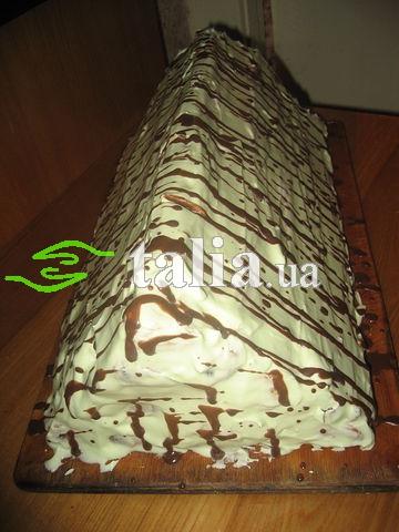 Рецепт. Торт ''Карпаты'' со сливочным кремом