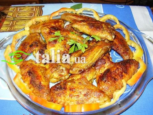 Рецепт. Куриные крылышки в духовке