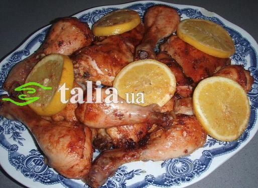 Рецепт. Куриные ножки в духовке в апельсиновом соусе