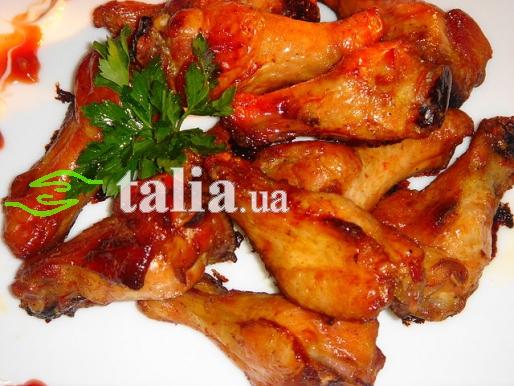 Рецепт. Крылышки ''Баффало'' в духовке