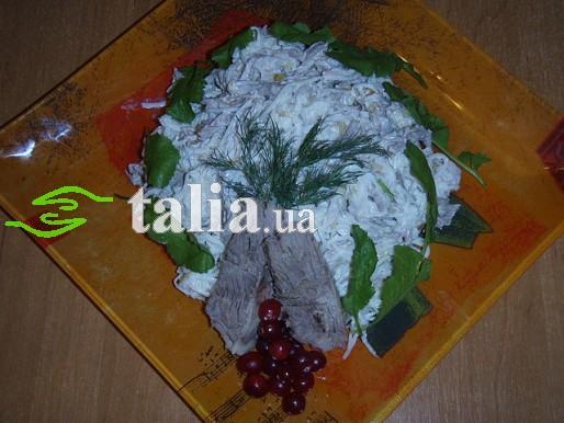 Рецепт. Редька. Салат из редьки с телятиной