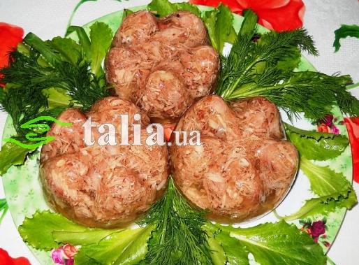 Рецепт. Холодец из свинины порционный