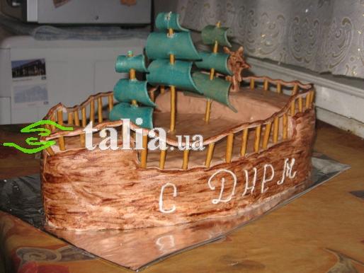 Рецепт. Торт ''Корабль'' с шоколадным кремом