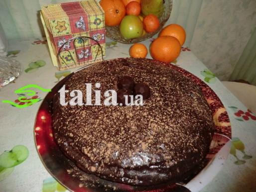 Рецепт. Трюфельный торт со сливочно-шоколадным кремом