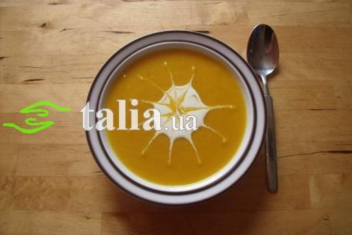 Рецепт. Тыквенный суп-пюре с картофелем