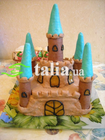 Рецепт. Торт ''Замок'' с бисквитными коржами
