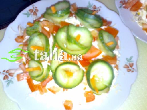 рецепт салата с огурцами и помидорами и с майонезом