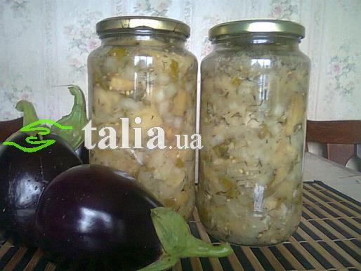 Рецепт. Маринованные баклажаны ''Под грибочки''