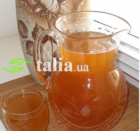 Рецепт. Квас из березового сока на хлебных сухарях