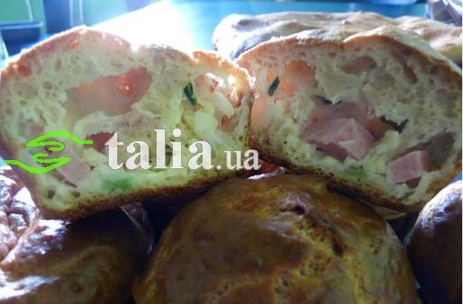 Рецепт. Маффины с сыром и колбасой