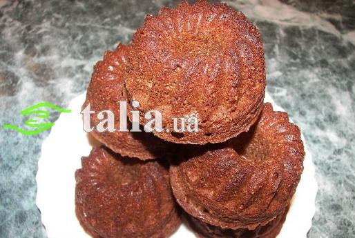Рецепт. Шоколадные маффины на сливочном масле
