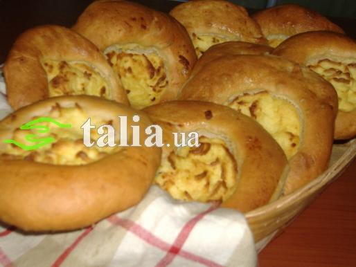 Рецепт. Шаньги с картошкой из дрожжевого теста
