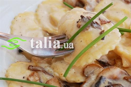 Рецепт. Равиоли с грибами по-итальянски