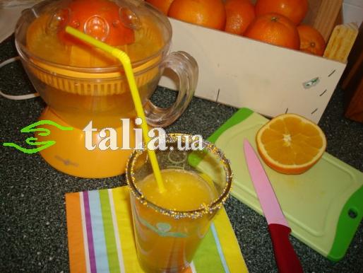 Рецепт. Апельсиновый сок с цедрой