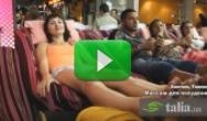 Видео. Массаж для похудения живота и тела (Каосан Роад Бангкок)