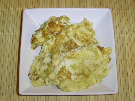 Рецепт. Домашний омлет с луком