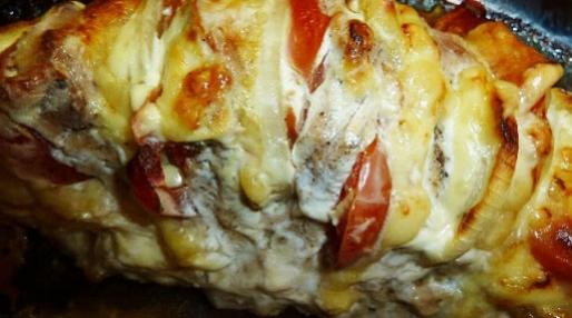 Рецепт. Куриная грудка в духовке с овощами