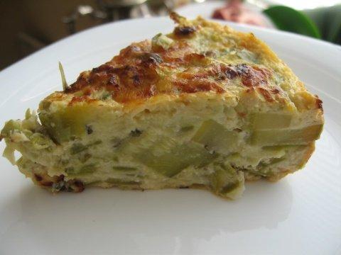 Рецепт. Творожный пирог из кабачков с мятой