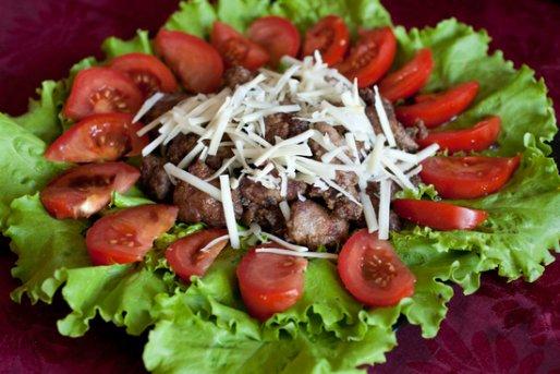 Рецепт. Оригинальный салат с печенью (салат из печени)