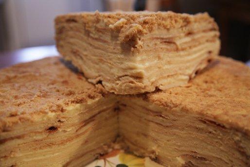 """Рецепт. Торт """"Наполеон"""" с заварным кремом"""
