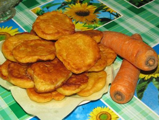 Рецепт. Морковные оладьи для завтрака