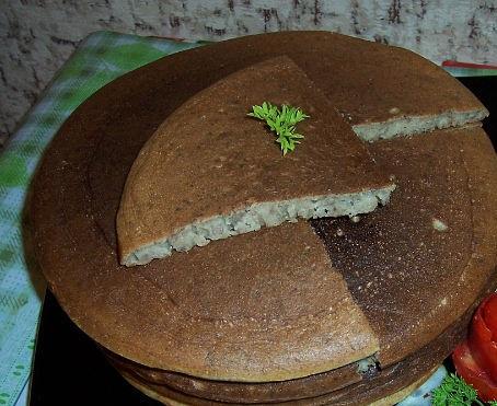 Рецепт. Блинчики с печенью (отварной)