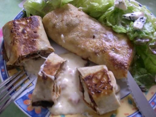 Рецепт. Французские блинчики с соусом бешамель