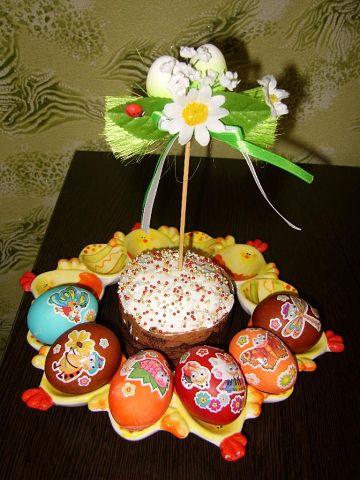 Рецепт. Декупаж пасхальных яиц (украшение яиц)