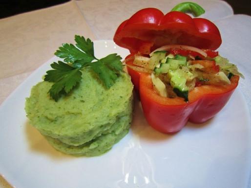 Рецепт. Пюре из шпината с картофелем