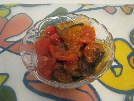 Рецепт. Салат из баклажанов