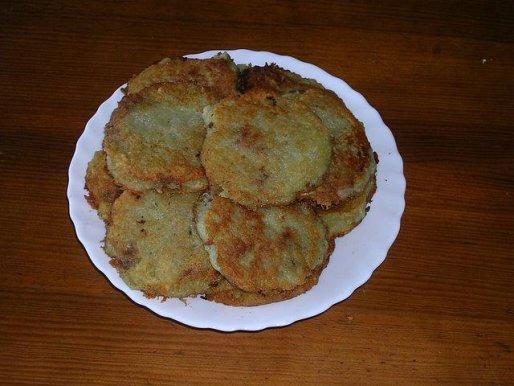 Рецепт. Деруны с мясом селянские (драники)