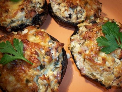 Рецепт. Фаршированные шампиньоны (грибы фаршированные)