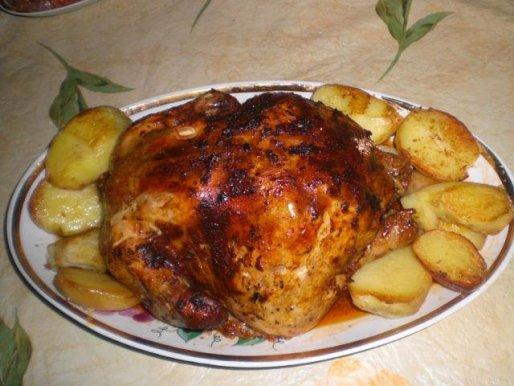 Рецепт. Курица в рукаве