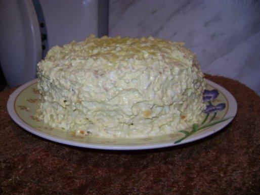 Рецепт. Торт из курицы