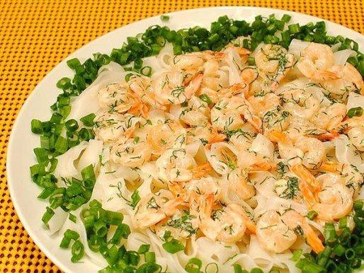 Рецепт. Салат морской с креветками