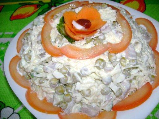 """Рецепт. Салат с языком """"Мужской каприз"""""""