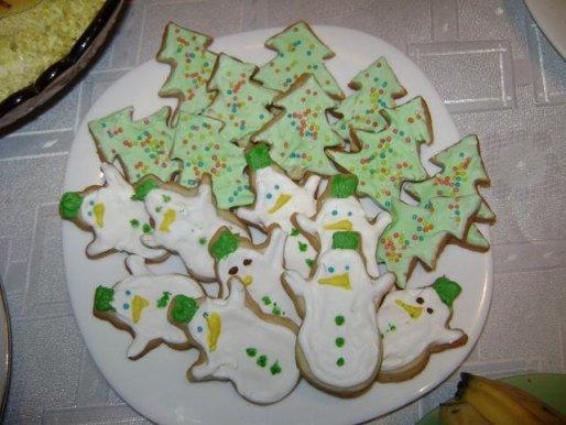 Рецепт. Новогоднее печенье с глазурью