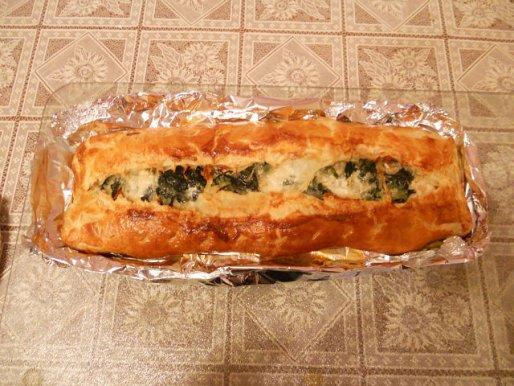 Рецепт. Рыбный пирог с семгой