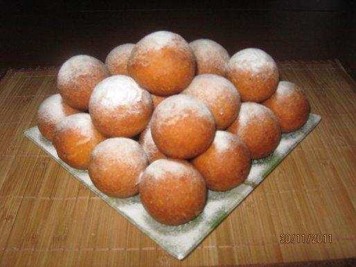 Рецепт. Творожные пончики