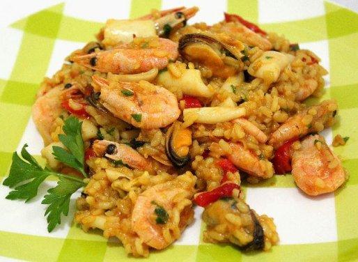 Рецепт. Ризотто с морепродуктами и болгарским перцем