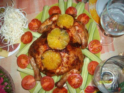 Рецепт. Курица с апельсинами и специями