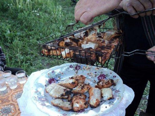 Рецепт. Шашлык из рыбы на майонезе