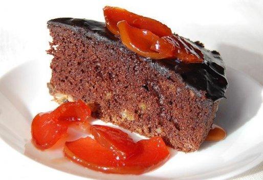 Рецепт. Шоколадный пирог с глазурью