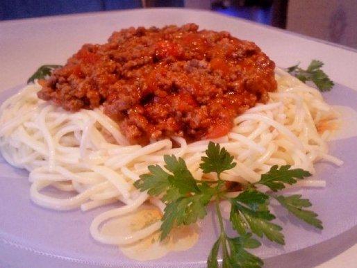 """Рецепт. Спагетти с соусом """"Болоньезе"""""""