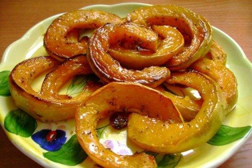 Рецепт. Запеченная тыква в духовке с медом