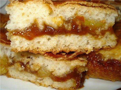 Рецепт. Сливовый пирог с яблоком и корицей