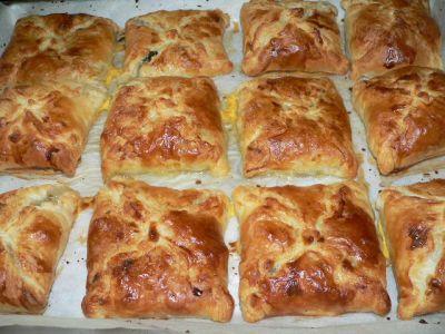Рецепт. Пирожки из слоеного теста